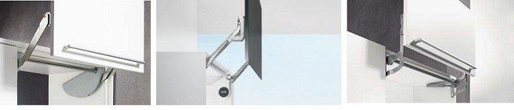 Механизмы вертикального (параллельного) открывания фасада