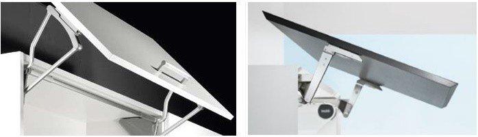 Откидные подъемные механизмы для шкафов с выносом