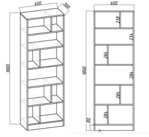 как сделать мебель своими руками: чертеж стеллажа