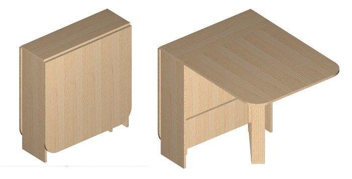 Раскладной стол своими руками, общий вид