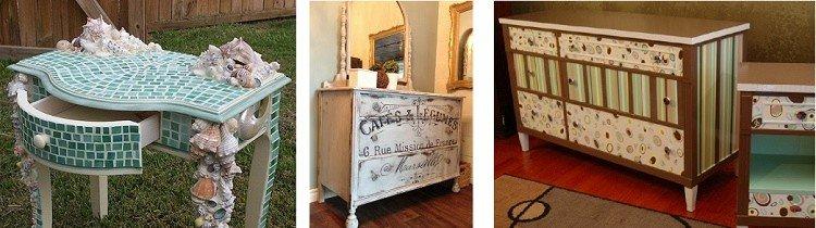 Декорирование мебели вручную