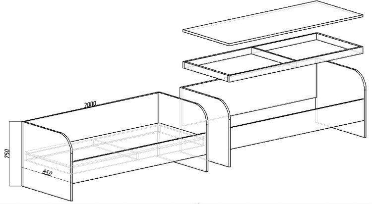 Сделать детскую кровать из лдсп своими руками чертежи 52