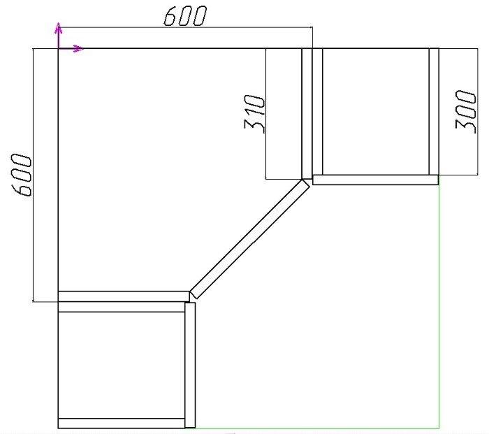 Как рассчитать фасад углового шкафа