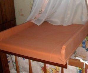 Как сделать детский пеленальный столик своими руками