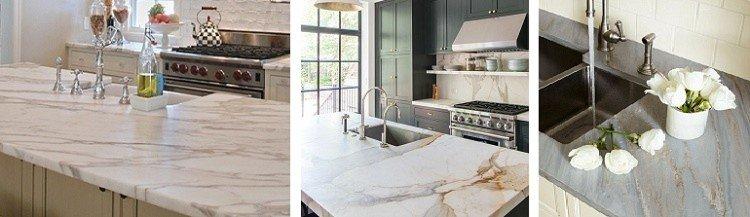 каменная столешница для кухни из мрамора