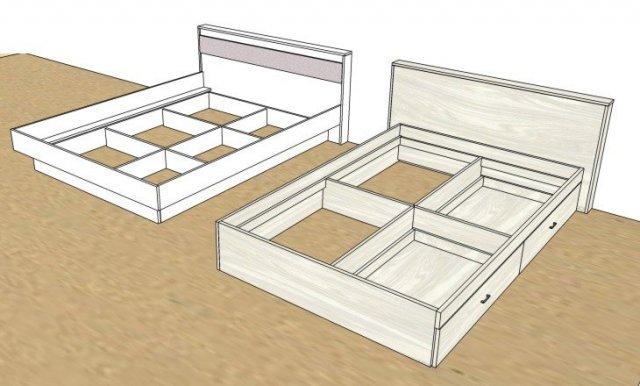 двуспальная кровать своими руками чертежи и схемы корпуса и изголовий