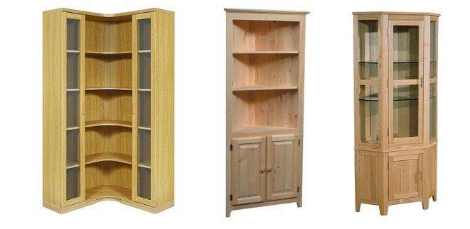 Открытые угловые шкафы