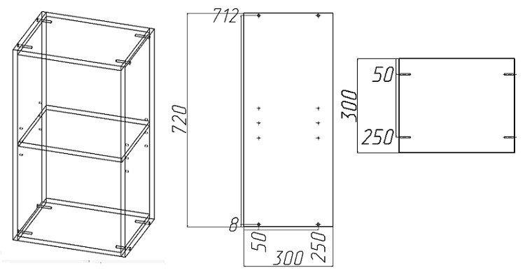 Схема кухонные шкафы своими руками