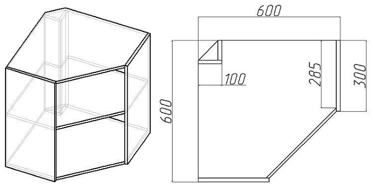 угловой кухонный навесной шкаф своими руками