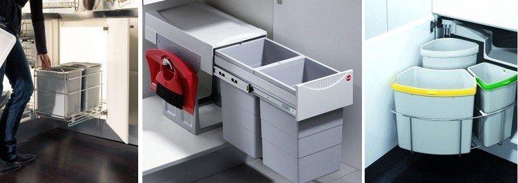 нижний угловой кухонный модуль с системами утилизации