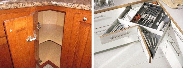 наполнение угловых нижних кухонных шкафов