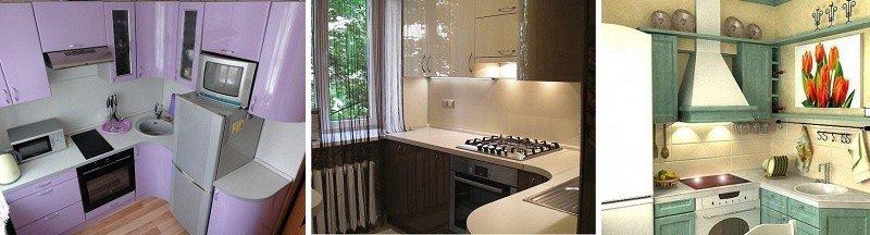 дизайн проект угловых кухонь 6 кв. м.