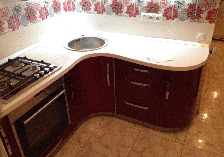 проект гарнитура для маленькой кухни