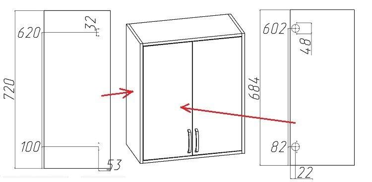 установка внутренних мебельных петель