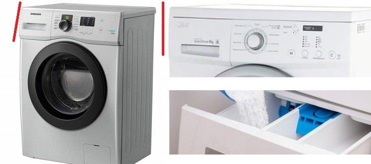доступ к лотку при встраивании стиральной машины в мебель