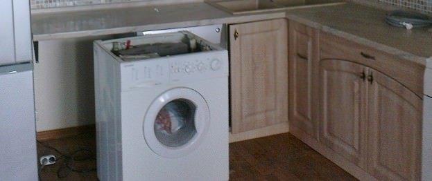 крепление столешницы над стиральной машиной
