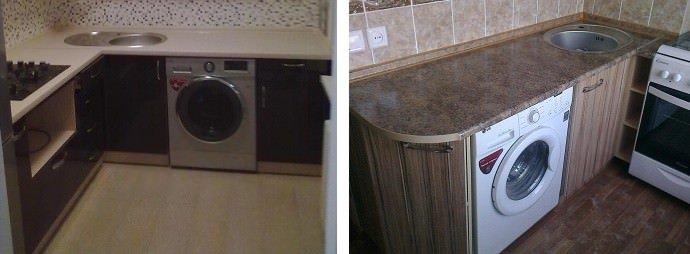 кухонная мебель для встраиваемой стиральной машины