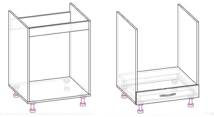 кухонный шкаф своими руками чертеж