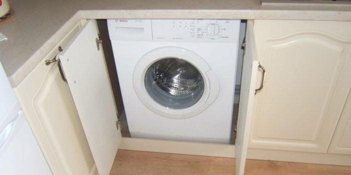 встроенный шкаф под стиральную машину