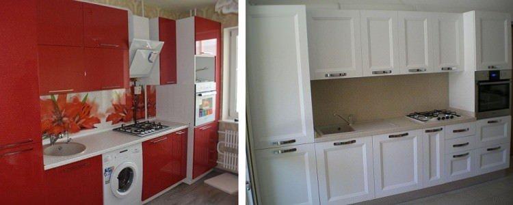 проект прямой кухни 4 м