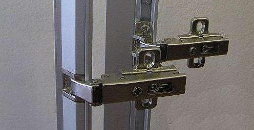 мебельные петли под алюминиевую рамку