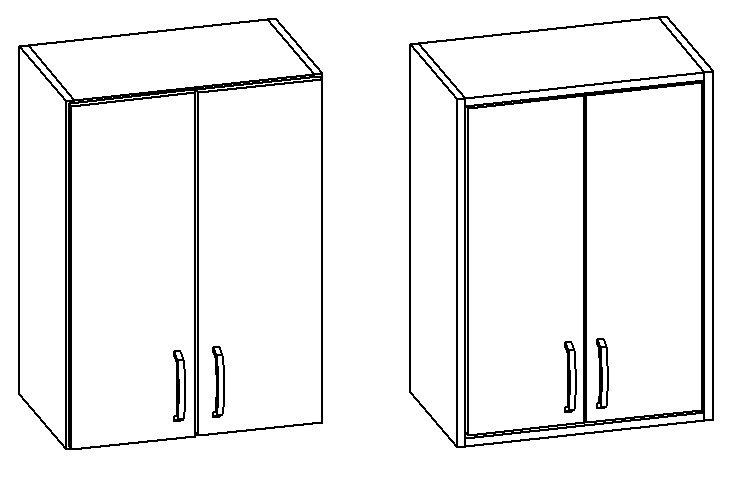как рассчитать размер накладных и внутренних фасадов