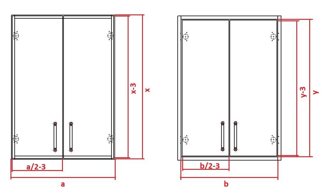 как рассчитать размеры фасадов с зазорами