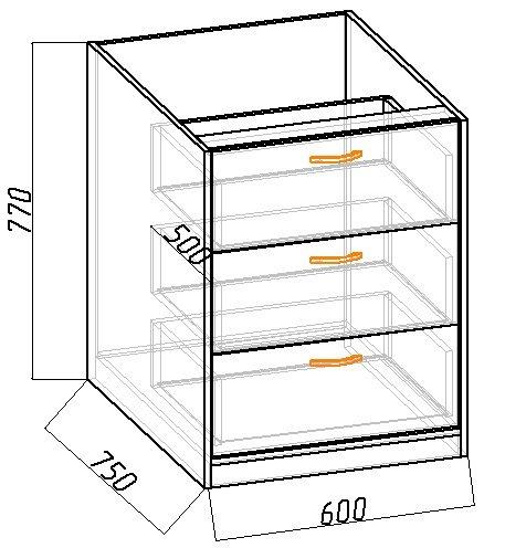 чертеж кровати чердака своими руками - центральный модуль комод