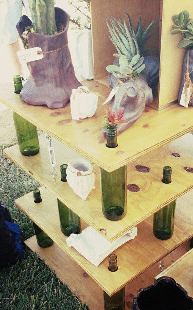 мебель для дачи из бутылок