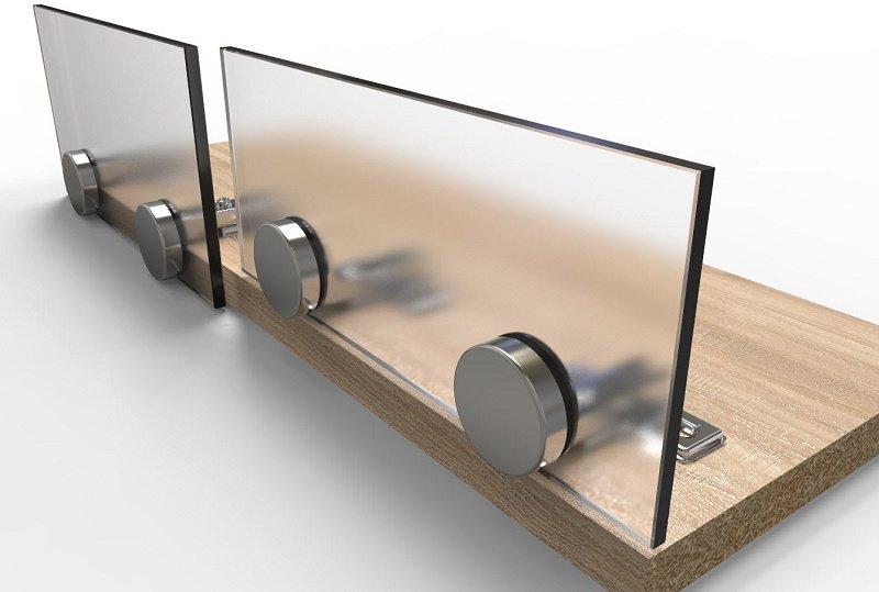 мебельные петли для стеклянных фасадов со сверлением