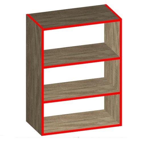простой навесной шкаф