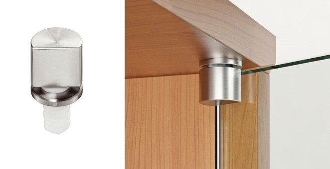 мебельные петли для стеклянных дверей с УФ склеиванием