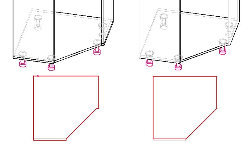 дно (основание) углового шкафа на ножках