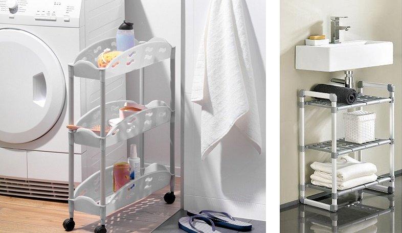 идея хранения: этажерка-столик для ванной комнаты