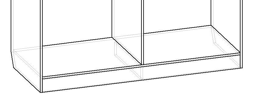 основание шкафа на цоколе с перегородками