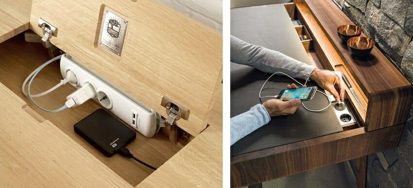 Как спрятать провода от компьютера и телевизора в мебели