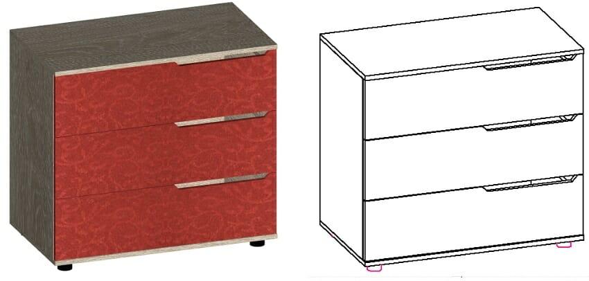 установка направляющих на примере комода с тремя ящиками