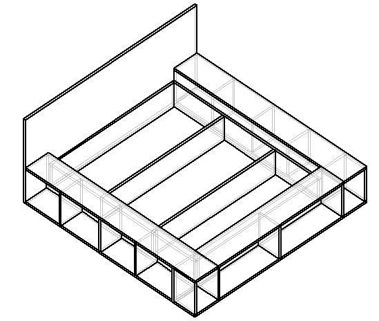 чертеж кровати-подиума своими руками