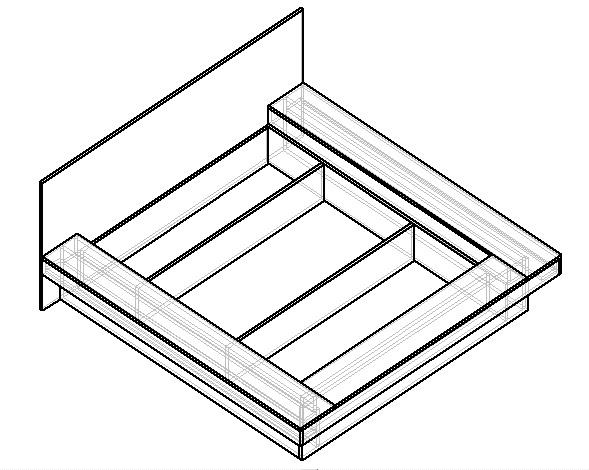 как сделать чертеж кровати с подиумом своими руками