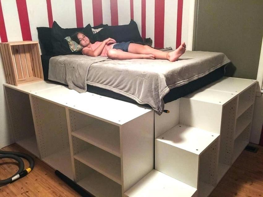 как сделать кровать подиум из икеа своими руками