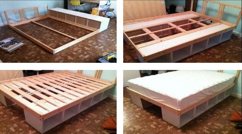 как сделать кровать-подиум из икеа
