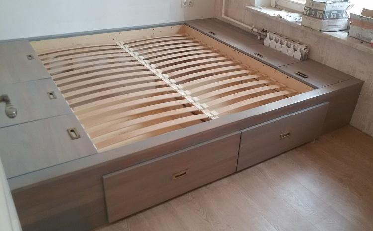 как сделать кровать-подиум своими руками