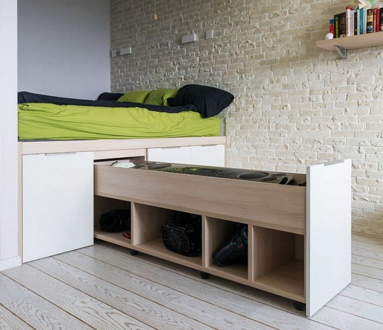 кровать-подиум в нишу своими руками