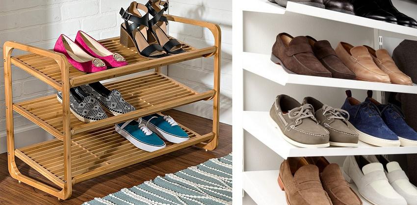 наклонные полки для обуви