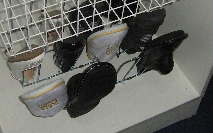 системы хранения для обувниц из металла