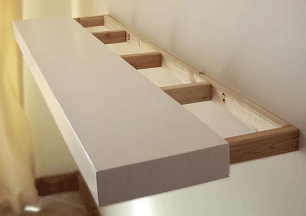 невидимый крепеж для полок к стене