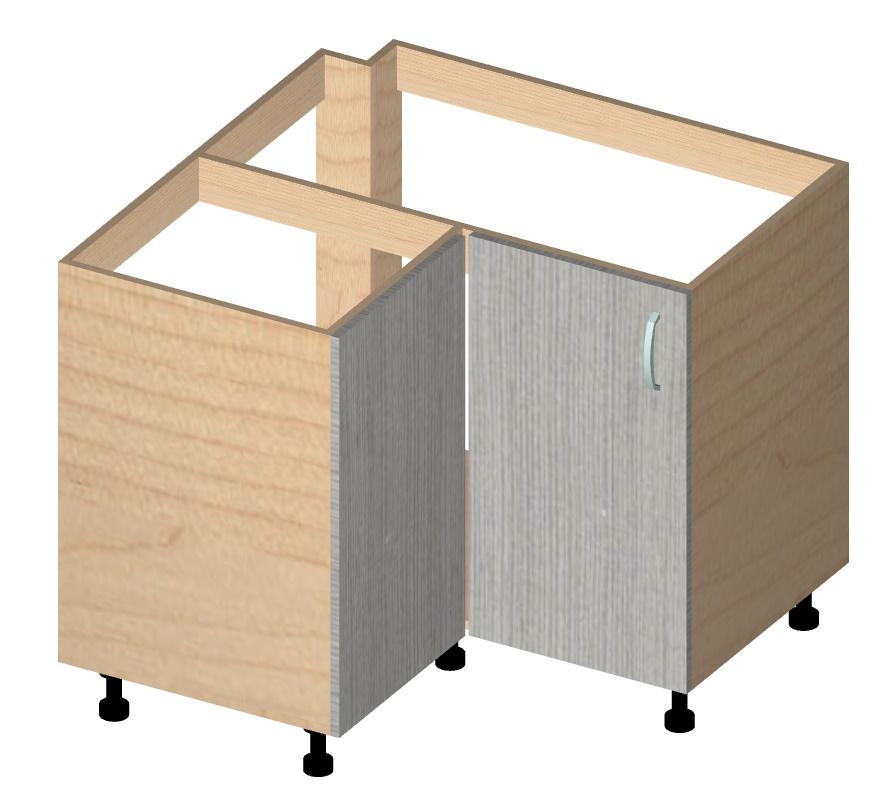 угловой Г-образный шкаф под мойку
