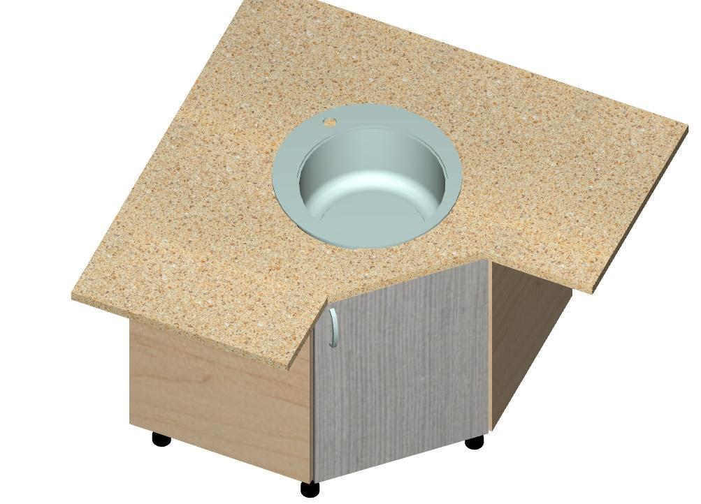кухонный шкаф под мойку трапецией