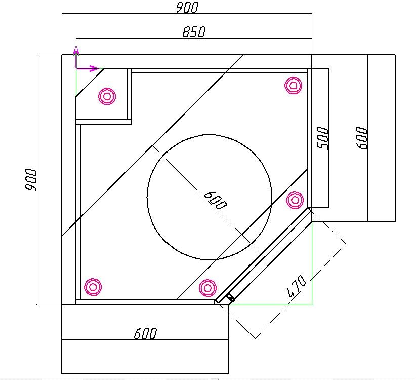 размеры углового кухонного шкафа под мойку