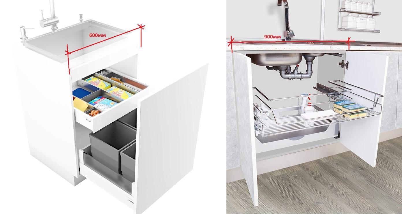 какой размер шкафа под мойку удобный